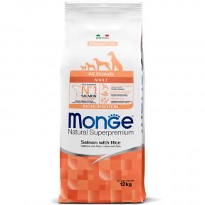 Сухой корм для собак Monge Speciality line лосось с рисом 12 кг