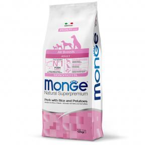 Сухой корм для собак Monge Speciality line свинина с рисом и картофелем 12 кг