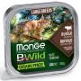 Влажный корм для кошек Monge BWild беззерновой, с буйволом и с овощами для крупных пород (паштет)100 г