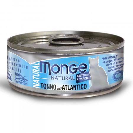 Влажный корм для кошек Monge Natural с тунцом 80 г