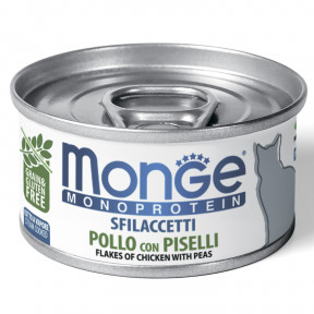 Влажный корм для кошек Monge Monoprotein беззерновой с курицей и с горошком 80 г