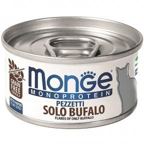 Влажный корм для кошек Monge Monoprotein беззерновой с буйволятиной 80 г