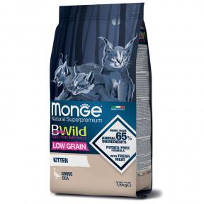 Сухой корм для котят Monge BWild низкозерновой с гусем 1.5 кг