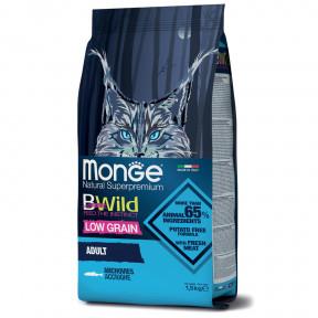 Сухой корм для кошек Monge BWild низкозерновой с анчоусом 1.5 кг