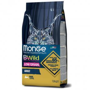 Сухой корм для кошек Monge BWild низкозерновой с зайцем 1.5 кг