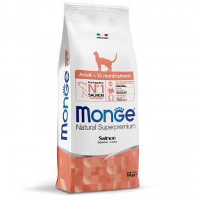 Сухой корм для кошек Monge Natural Superpremium Adult для взрослых кошек, с лососем 10 кг