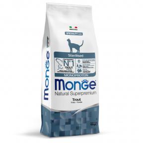 Сухой корм для стерилизованных кошек Monge Natural Superpremium Monoprotein с форелью 10 кг