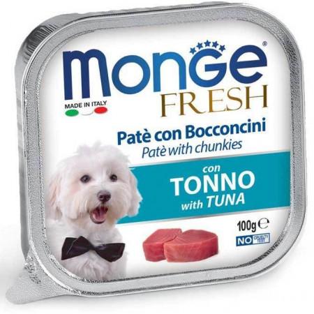 Влажный корм для собак Monge Fresh с тунцом 100 г