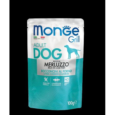 Влажный корм для собак Monge Grill беззерновой с треской 100 г