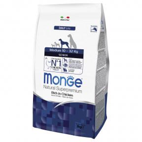 Сухой корм для пожилых собак Monge Daily Line курица (для средних пород) 3 кг