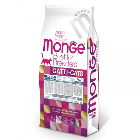Сухой корм для стерилизованных кошек Monge Natural Superpremium PFB Monoprotein монобелковый, с форелью 10 кг