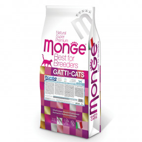 Сухой корм для котят Monge Natural Superpremium PFB Monoprotein монобелковый, с форелью 10 кг