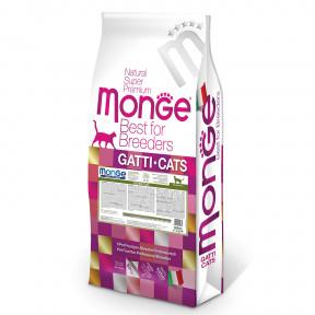 Сухой корм для кошек Monge Natural Superpremium PFB Sensitive при чувствительном пищеварении, с курицей 10 кг