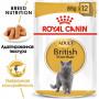Влажный корм для Британской короткошерстной кошки Royal Canin British Shorthair (кусочки в соусе) 85 г