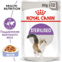 Влажный корм для стерилизованных кошек Royal Canin Sterilised кусочки в желе 85 г