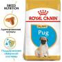 Сухой корм для щенков Мопса Royal Canin Pug Puppy при чувствительном пищеварении (для собак до 10 месяцев) 1.5 кг