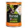 Влажный корм для щенков Monge BWild беззерновой, с уткой с тыквой и цукини для всех пород 400 г